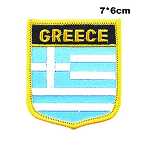 Soode Griekenland Vlag naaien op patches borduurwerk patches pailletten ijzer op patches voor kleding diy kleding decoratie PT0191-S