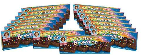 Little Debbie, Cosmic Brownies Boxes 96 Individually Wrapped Brownies, Rich Chocolate with Candy Coating, (Pack of 16)