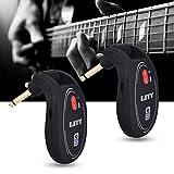 happyhouse009 Drahtlose Gitarren-Systeme, UHF 730 MHz Kabelloser Transmitter-Empfänger-System für E-Gitarre, Bass-Gitarre, Violine, Metall