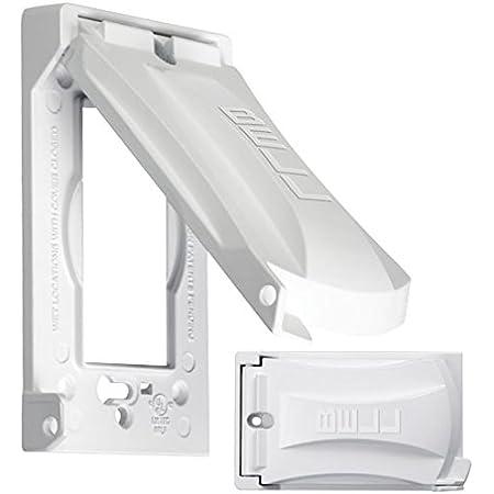 BELL Universal Flip Lid Device Covers 3 Gang Weatherproof Vertical Mount Metal