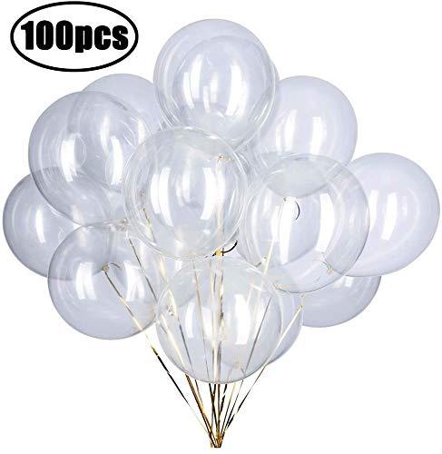ZOOYOO - Palloncini Trasparenti per Feste, 30,5 cm, Confezione da 100