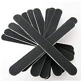 5pcs Limas de uñas doble cara Archivos lima de cartón Grit Negro gel cosmética manicura pedicura Negro, fácil de operar herramientas del clavo