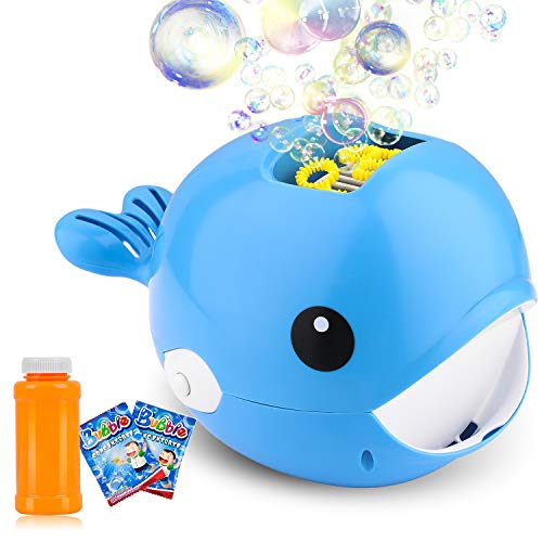 Biulotter Bubble Machine, Automatic Bubble Blower, Bubble Maker More Than 2000 Per Minute Bubble Machine for Kids, Easy to Use for Parties, Wedding, Indoor and Outdoor Activities (Blue)