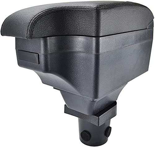 Coche Cuero Caja de Reposabrazos para Toyota YARIS/VITZ 5DR Fließheck 2006-2011/ Daihatsu Charade, Con Puerto USB Consola Central Doble Capa Apoyabrazos Almacenamiento Organizador Accesorios