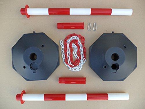 GC2-CH2 Paar Kunststoff Poller mit 2m Kunststoff-Kette - 4