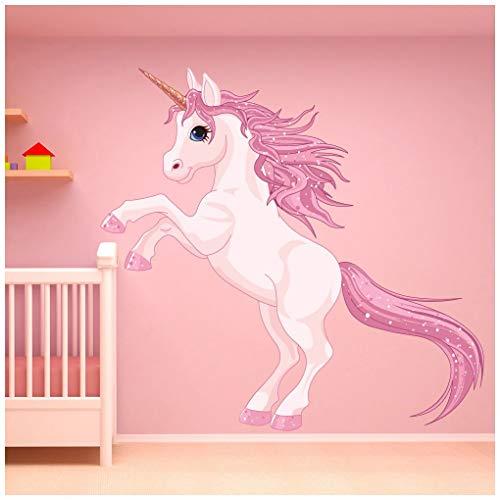 azutura Unicornio Vinilos Cuento de Hadas de la fantasía Pegatina Decorativos Pared Cuarto de niños del Dormitorio de Las Muchachas Decoración Disponible en 8 Tamaños Gigantesco Digital