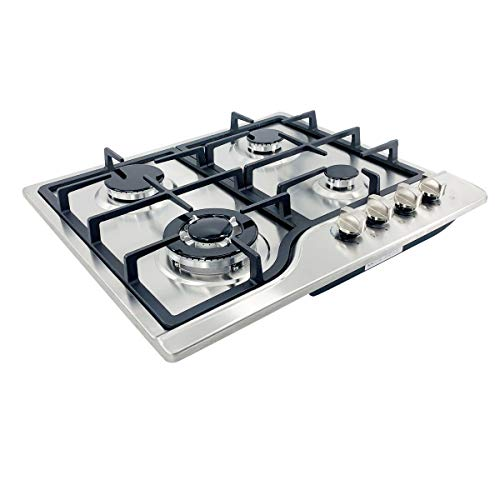 Cozyel 30″ Built-in Gas Cooktop in Black Tempered Glass with 5 Burners Stove Burner LPG/NG Convertible Natural Gas Propane Dual Fuel and Easy to Clean, High Power Burner Gas Stovetop, with 5 Nozzles