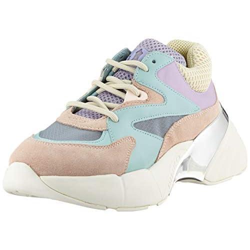 Pinko Maggiorana 2, Sneaker Infilare Donna, Multicolore (Verde Acqua/Rosa/Lilla Ty7), 37 EU