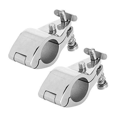 2Pcs 316 Stainless Steel Boat Hinged Upper Jaw Slide Marine Hardware Fittings Tip Style Marine Jaw Slide30mm118in