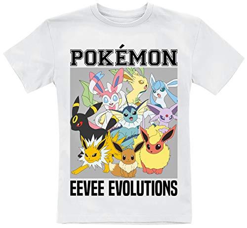 Pokémon Evoli - Eevee Evolutions Unisex T-Shirt weiß 110/116