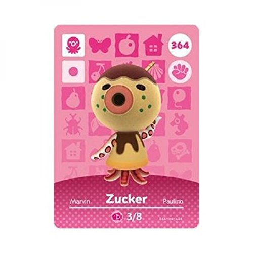 Zucker- Nintendo Animal Crossing Happy Home Designer Series 4 Amiibo Card -364