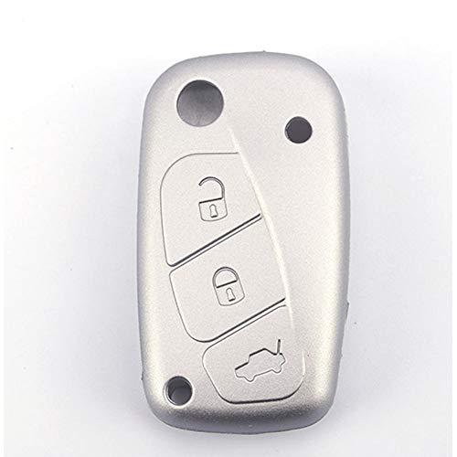 YKANZS 3 Button Silicone Car Remote Key Fob Shell Cover Case, For Fiat 500 Panda Florino Qubo Ducato Bravo Doblo Linea Punto Stilo Iveco
