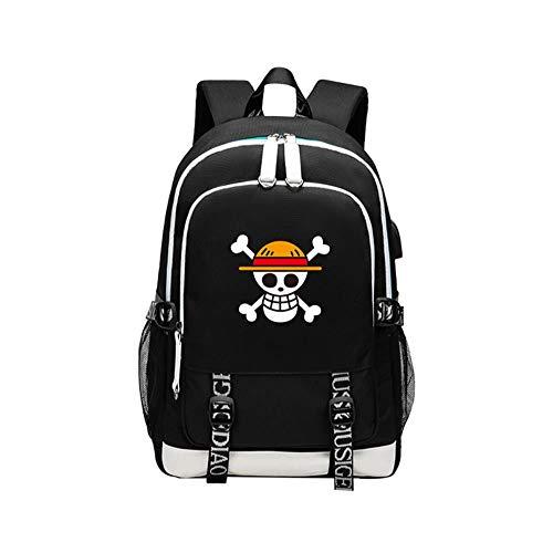 MAZF One Piece Luffy Soronchoba Oxford Cloth Transpirable Anime Backpack Mochila Escolar Estudiante Bolso