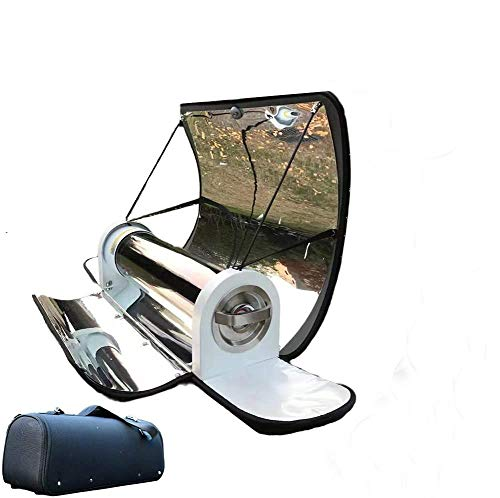 KECOP Solar Oven Sun Cooker,Portable BBQ Grill Solar Cooker Stainless Steel Stove Oven Smoke Free Food Grade,Foldable, Delicious for Outdoor Camping Travel