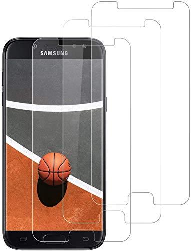 DOSNTO 3 Stück Panzerglas Schutzfolie für Samsung Galaxy J5 2017, 9H Härte, Anti-Kratzer, Anti-Öl, Anti-Fingerabdruck, Anti-Bläschen Displayschutzfolie Panzerglasfolie