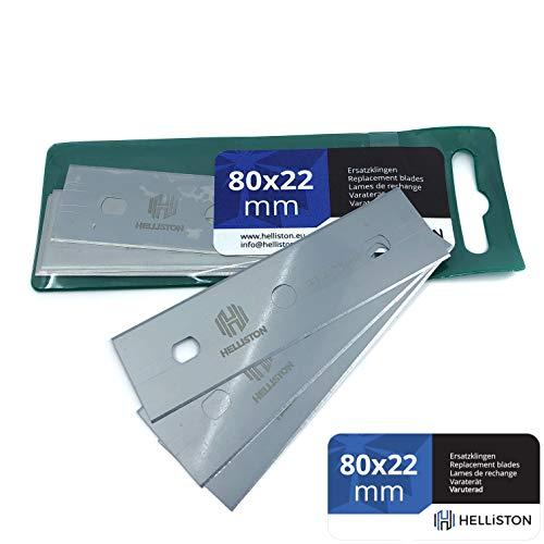 Ersatzklingen 80x22mm für Handy, Handy MK2, Triumph, Farbschaber, Glasschaber, Glashobel, Tapetenschaber, Bodenschaber (1 Packung = 10 Ersatzklingen)