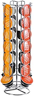 Rubik Coffee Capsules Holder, 360 Degree Rotating Stainless Steel Tower Storage Chrome Stand Hold 24pcs Caffitaly Coffee C...