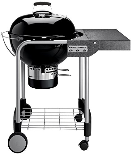 Weber 1401504Performer Original Gourmet-Holzkohlegrill, schwarz 57cm
