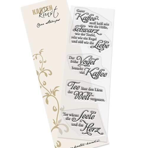 Clear Stamp-Set Stempel-Gummi - Karten-Kunst Kaffee und Tee