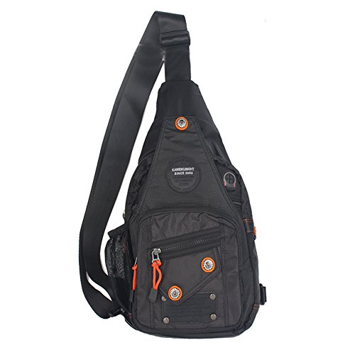 Innturt Nylon Sling Bag Backpack Daypack (C-Black)