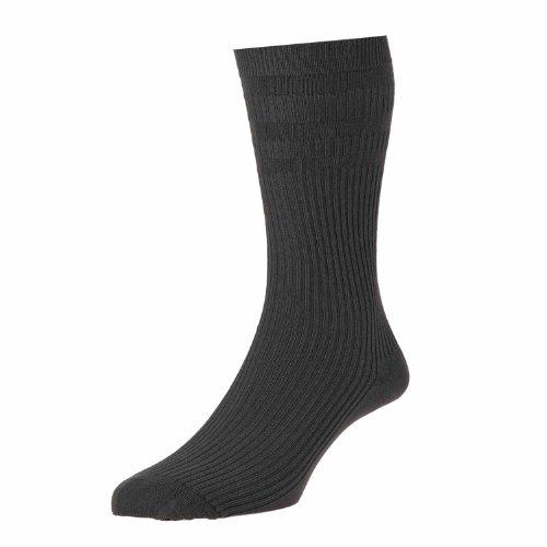 3 paires Pack hj91 Hall Homme softop bouffant largeur Top No élastique chaussettes de Coton - Argenté - L