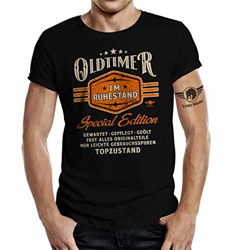 Geschenk T-Shirt zur Rente und zum Ruhestand: Oldtimer M