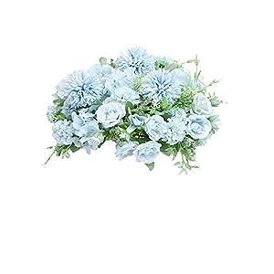 NAWEIDA – Ramo de flores artificiales de seda para decoración de peonías falsas, claveles, arreglos de flores realistas…