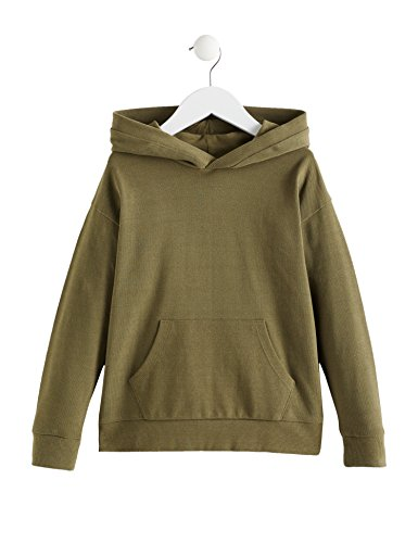 Amazon-Marke: RED WAGON Jungen Hoodie aus weichem Baumwoll-Jersey, Grün (Burnt Olive 18-0521 Tcx), 104, Label:4 Years
