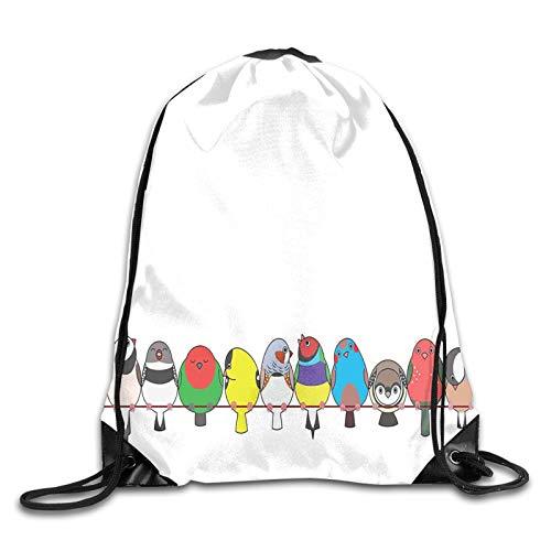 Bolsa de deporte con cordón, para gimnasio, colorido y feliz, varias pinzas...
