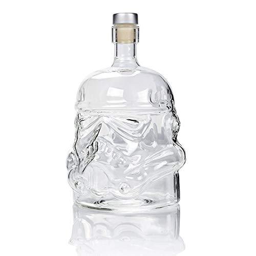 Botella decantador de Cristal Blanco Soldado jarro Licor 650ml Botella de Alta Boro Vidrio de Vino decantador