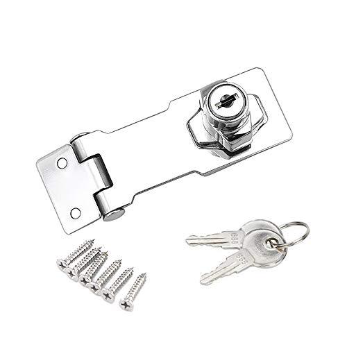 YUOIP® lade kast sloten hangslot Hasp slot voor meubels brievenbus lade kast (3 inch) (zelfde sleutel)