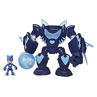PJ Masks Robo-Catboy Preschool Toy with Lights and Sounds for Kids Ages 3 and Up, Catboy Robot Suit with Catboy Action…