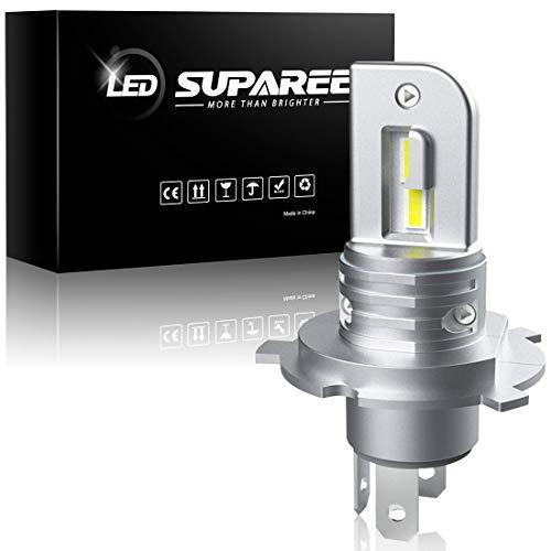 SUPAREE H4 H19兼用 LEDヘッドライト バイク 原付用 HI LO切替 車検対応 ファンレス ノイズキャンセラー内蔵 20W 6500K ホワイト 一体型 LEDバルブ 1個入り