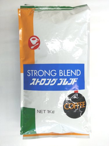 レギュラー コーヒー 【 豆 】 ストロング ブレンド ( お徳用 1kg 入り) ( ミル挽き無し )