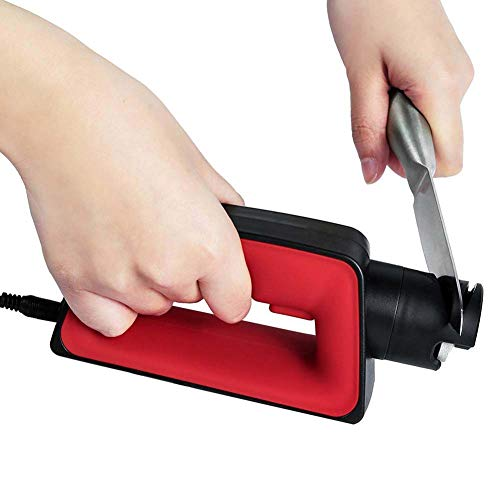 YXXJ Afilador de Cuchillos eléctrico, con la Rueda de Pulido Japonesa, Hyper...