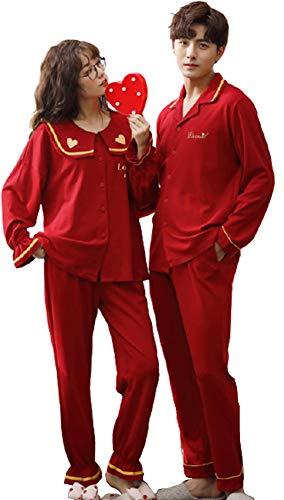 ペアルック パジャマ ルームウェア おそろいパジャマ カップル 綿 パジャマ メンズ 部屋着 おそろい カップル カップル tシャツ 寝巻き レディース 部屋着 ペア ペアルック 夏 ルームウェア レディース ワンピース mkm1906-B-L