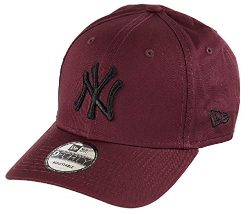 New Era New York Yankees 9forty Adjustable Cap MLB Rear Logo Maroon/Black - One-Size