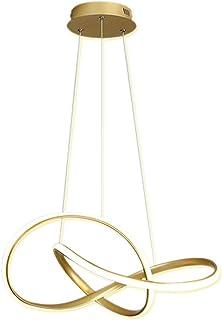 Moderna lámpara LED colgante de comedor lámpara de techo lámpara de salón lámpara de salón anillo de decoración para mesa de comedor salón dormitorio Ø60 cm incluye 58 W 3000 Kelvin 2250 lm