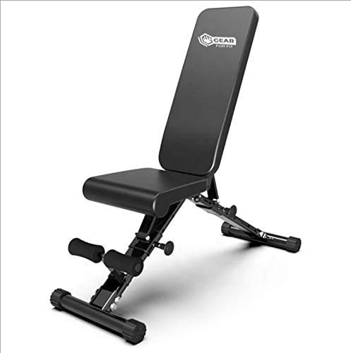 Foldable Adjustable Bench, Utility Weight Bench, Excercise Fitness Bench for Body Workout, Strength Training, Incline/Decline Bench, Home Gym, Weightlighting