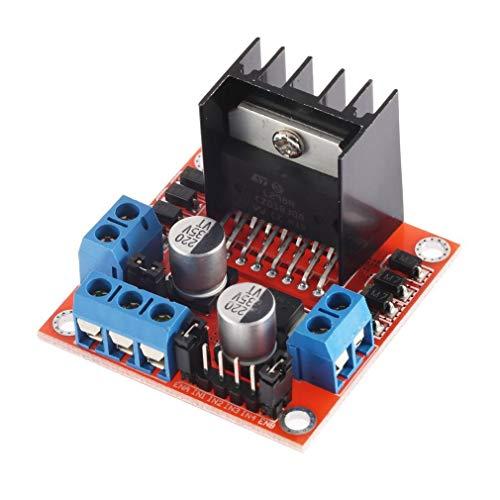 JIE Dual-H-Brücken-Schrittmotor-Steuerplatinenmodul für Arduino L298N Schwarz