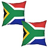 Ufiner Flag of South Africa Throw Pillow Covers Durable Pillow Case Square Cushion Covers Decorative Pillowcase Modern Cushion Case for Couch Bed Car 12'X12'