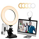 SICCOO Selfie Ring Light with Monitor Clip On,Computer Laptop Video Conferencing,Computer Monitor Light for Remote Working, Self Live Streaming