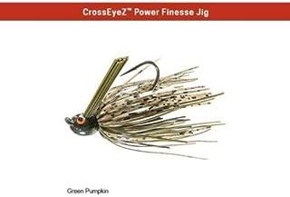 Z-Man CrossEyeZ Power Finesse Jig 3/8 oz Green Pumpkin CEPF38-02 ZMan Cross Eye
