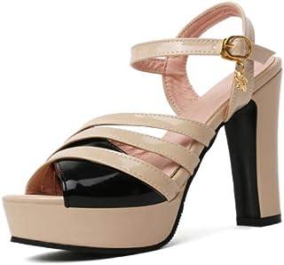 Hebilla Zapatos esTacones De Tacón Amazon Charol DEW2IYH9