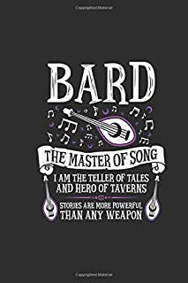 Bard: Dungeons & Dragons (white) The Master Of Song Notebook, Journal for Writing, Size 6