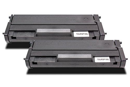 Twin Pack - 2x Compatibles Cartuchos de Tóner Láser para RICOH SP-150-HE   2x Negro/1500 lados   para Impresora Ricoh SP150sU SP150sF SP150w SP150x SP150sUW