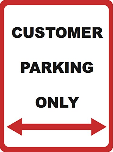 Customer Parking Only - Parking Lot Sign - Business Traffic Directional Signs - Aluminum Metal