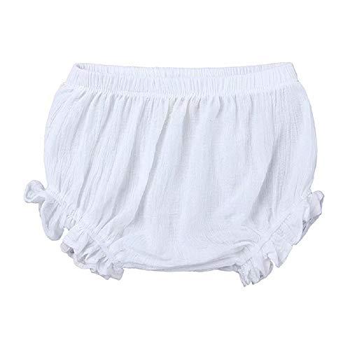 Niños Bebé Niña Sólido Pantalones Cortos Fondos de Encaje Corto PP Pantalón Algodón Lino Bloomers Verano Bragas