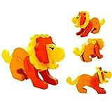 DressLksnf Montessori Mini 3D Puzzle Niños Educativo Divertido Juguete Madera Colorido Rompecabezas Regalo Rompecabezas Tridimensional Animal