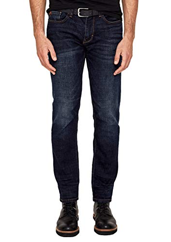 s.Oliver Herren Regular Fit: Straight leg-Denim mit Gürtel blue denim stretch 30.32